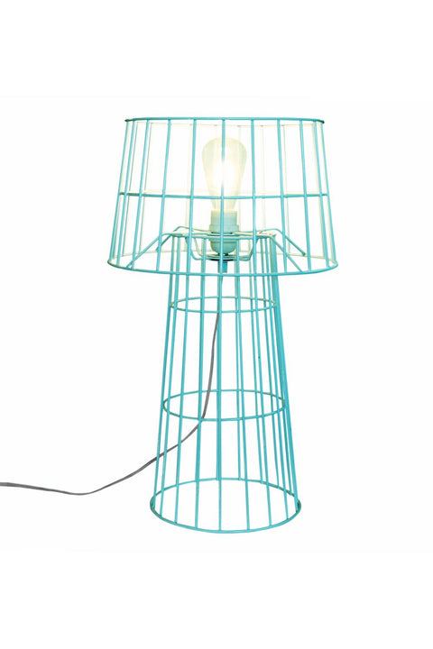 Lighthouse Table Lamp & Shade - Aqua