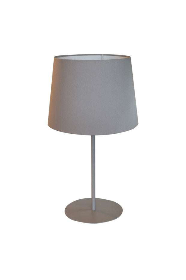Metal Upright Table Lamp - Light Grey