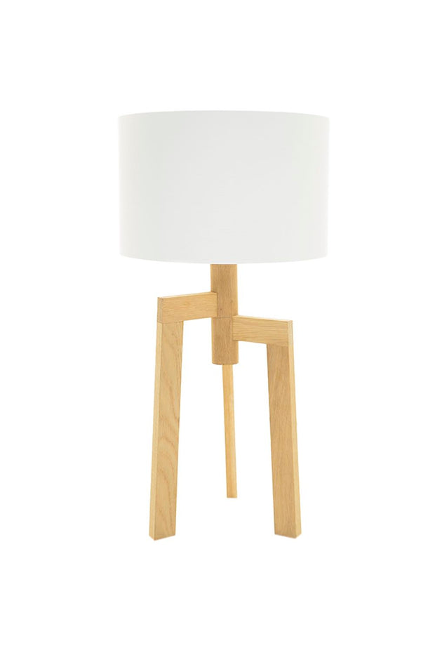 Jaggered Table Lamp - Oak