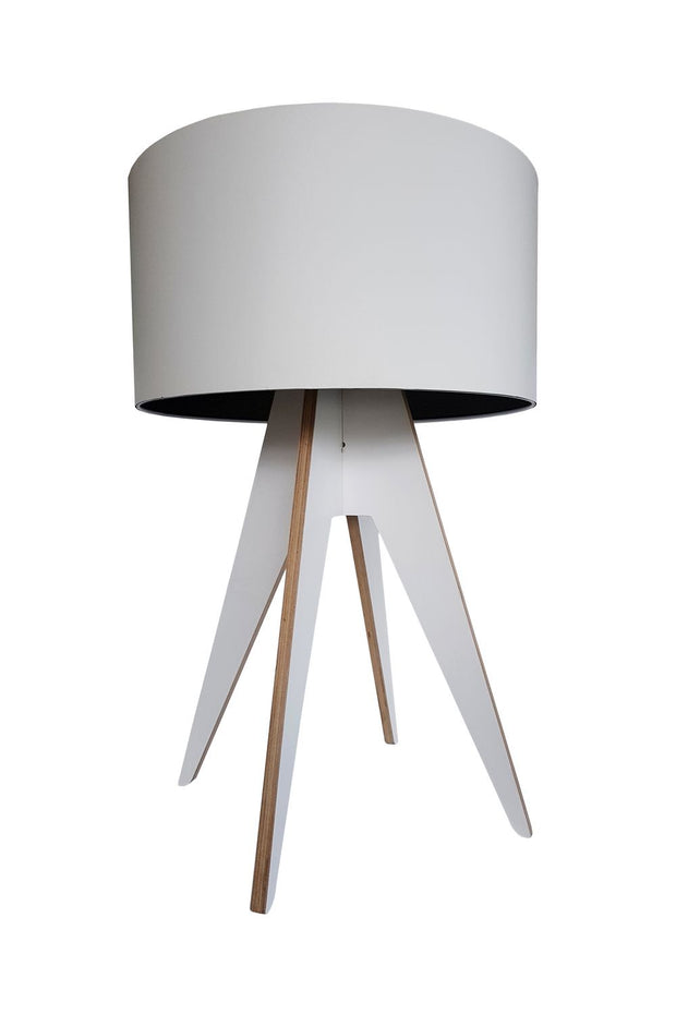 Quadtro Birch Table Lamp - White
