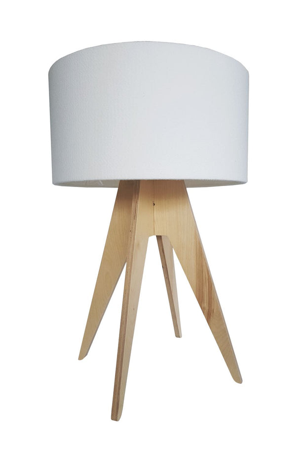 Quadtro Birch Table Lamp - Natural