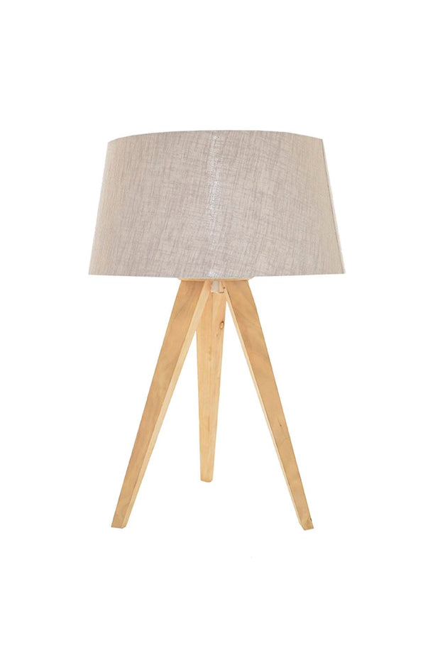 Tripod Birch Table Lamp - Natural