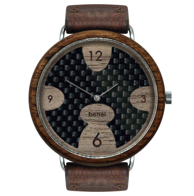The Ellipse 44mm - Brown Strap