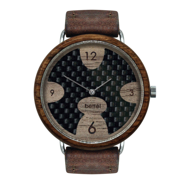 The Ellipse 40mm - Brown Strap