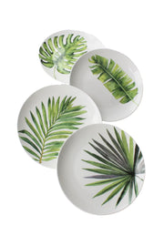 Tropical Leaves Mixed Dinnerware Set