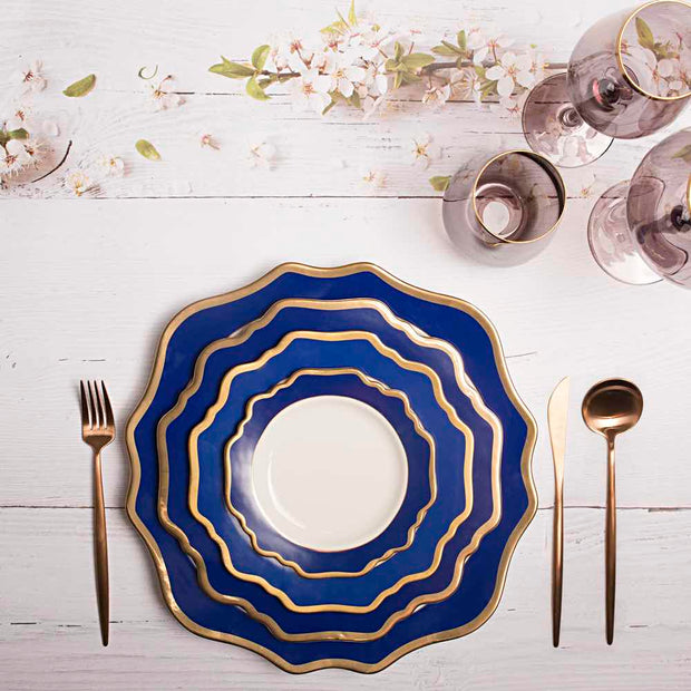 Versailles Dinnerware Set Royal Blue