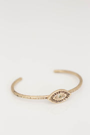 Gold Evil Eye Bangle