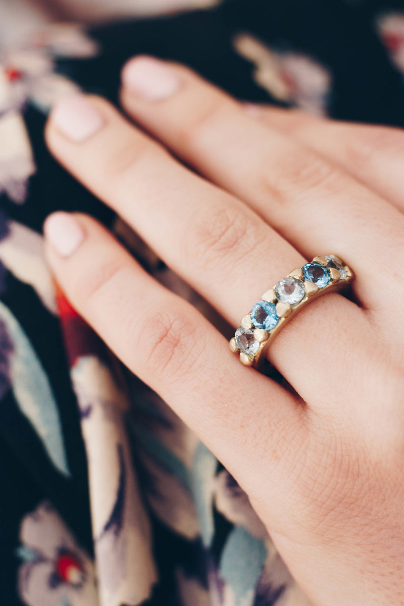 Blue Topaz Gem Ring