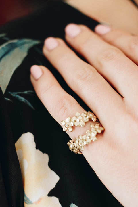 Gold Daisy Chain Ring
