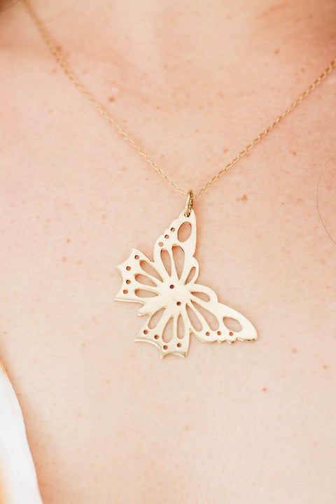 Cutout Butterfly on chain