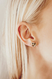 Tiny Rose Gold Studs