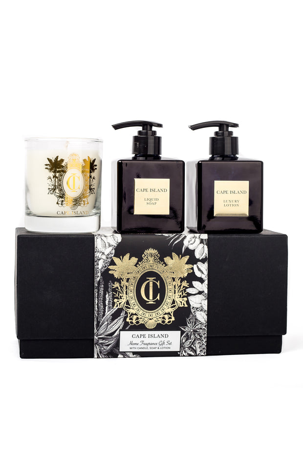 Black Gold Luxury Liquid Soap and Lotion with 250ml Candle