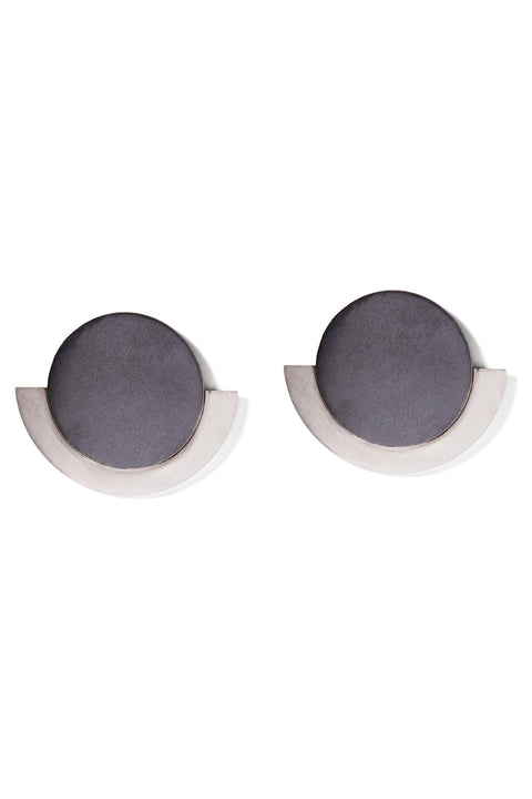 Charcoal & Silver Round Deco