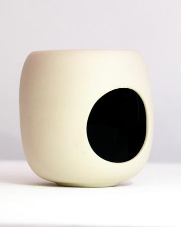 Grey Cylinder Ceramic Oil Burner
