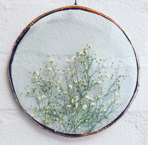 Botanical Wall Hanging - Circle medium