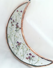 Botanical Wall Hanging - Crescent moon medium