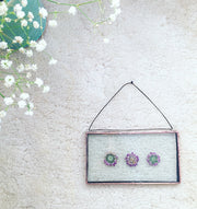 Botanical Wall Hanging - Rectangle 3 flowers