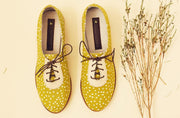 Xolani Oxford in Chartreuse / White Dots