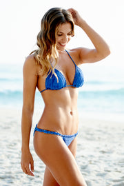 Royal Blue Crochet Bikini Top