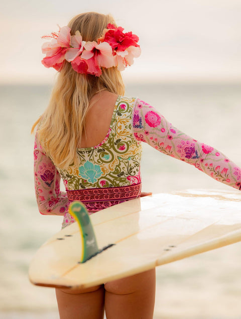 Vintage Bloom Surf Suit