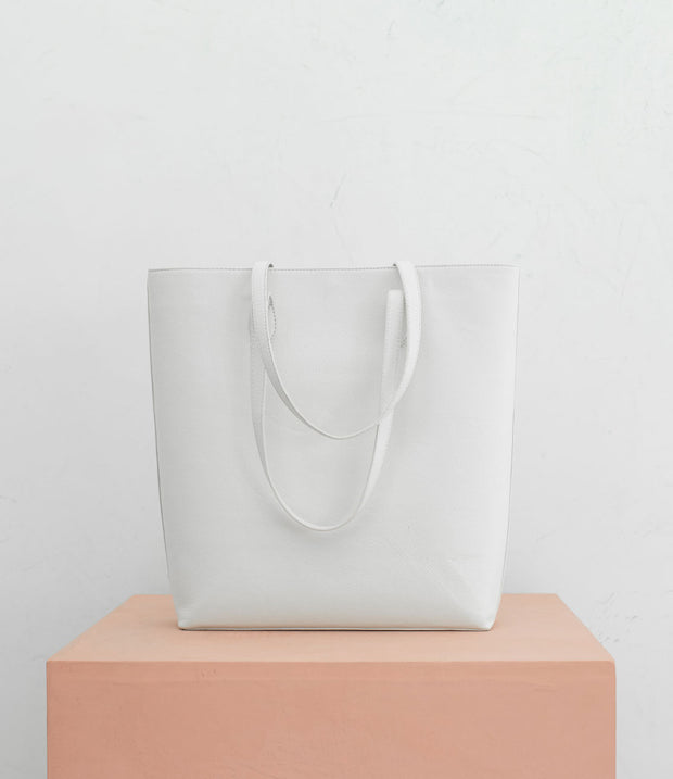 The Shirley Tote in Bone