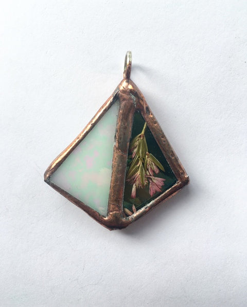 Unique Mismatch Triangle Pendant