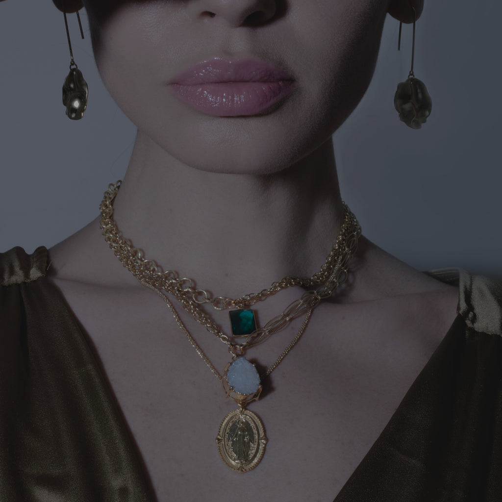 Layered Necklaces from the new collection of Fine Jewellery from One Dame Lane