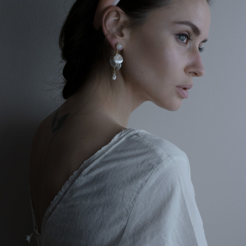 Granada Pearl Drops from One Dame Lane Handcrafted Bridal Jewellery