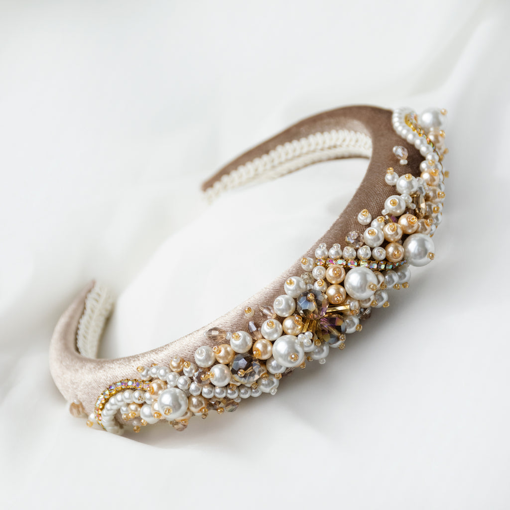 Champagne Hairband Bridal Accessories