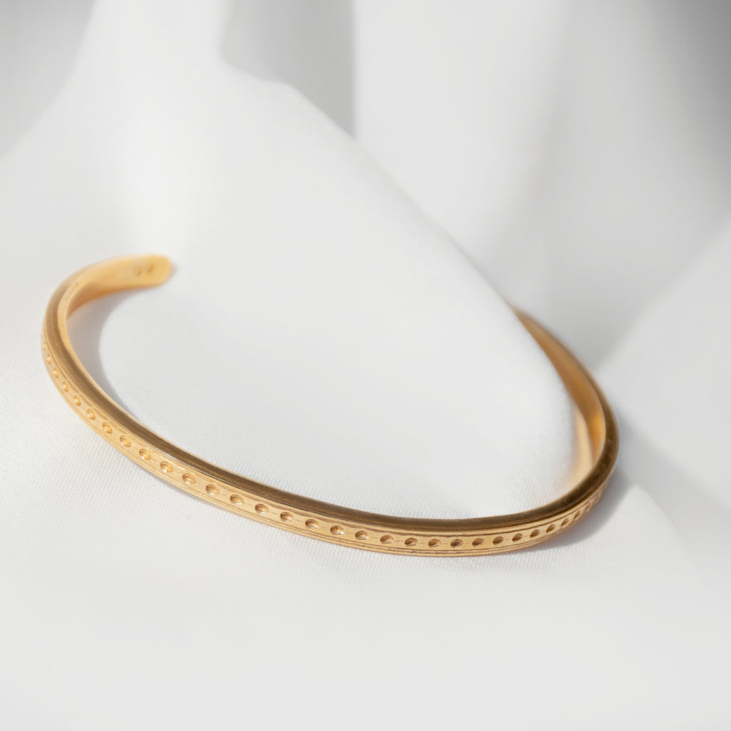 Dot Pattern Open Bangle from One Dame Lane