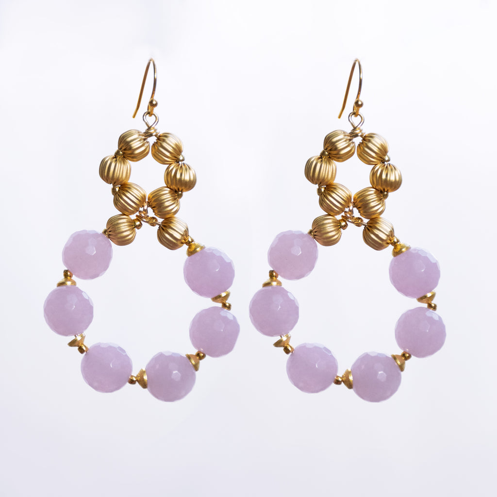 LAVENDER CHALCEDONY || EARRINGS