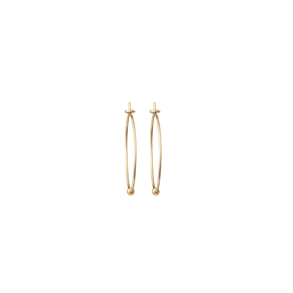 Delicate Hoops with mini Gold Bead