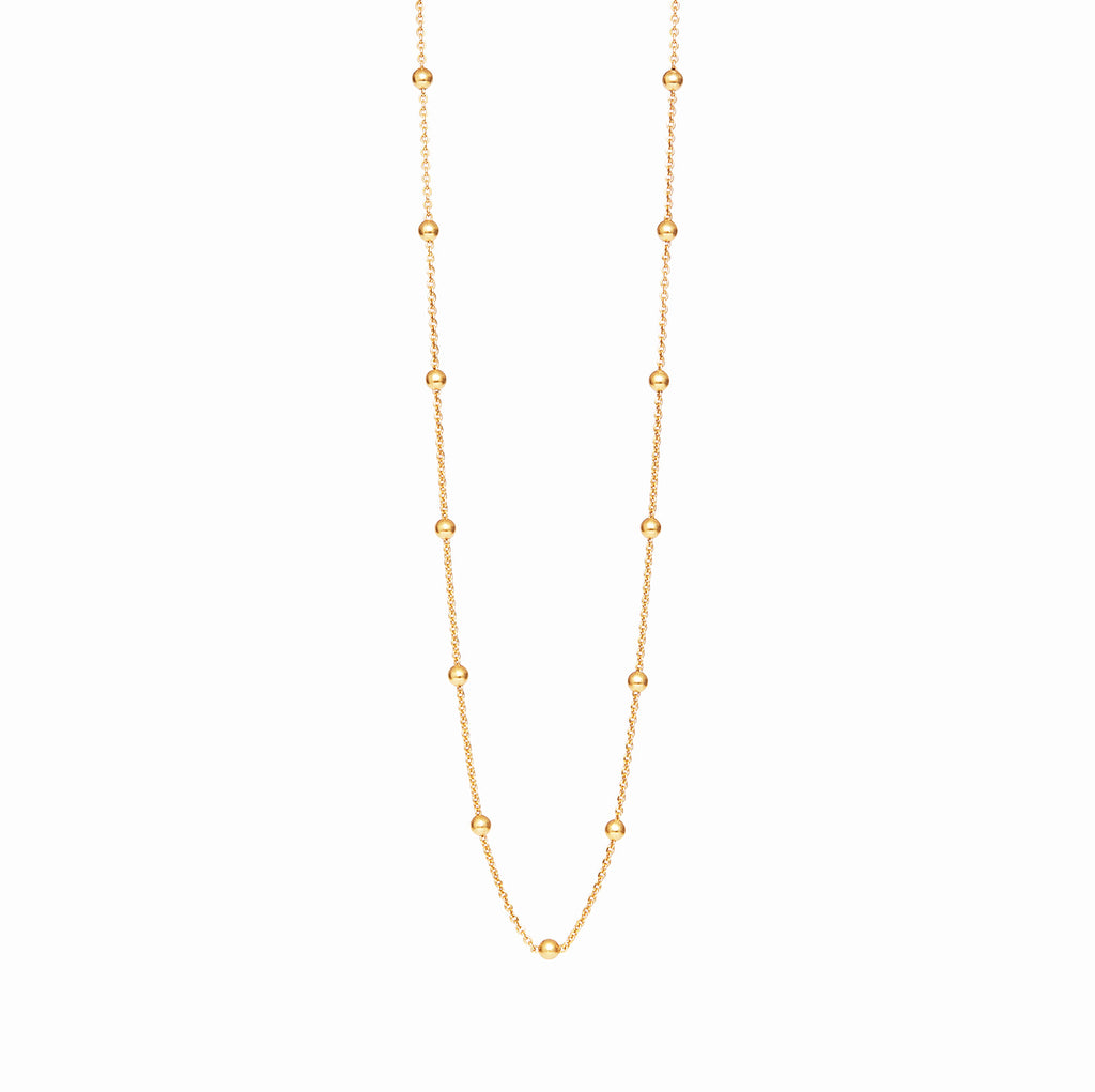 18k Gold Fill Bead Chain Personalised Necklace