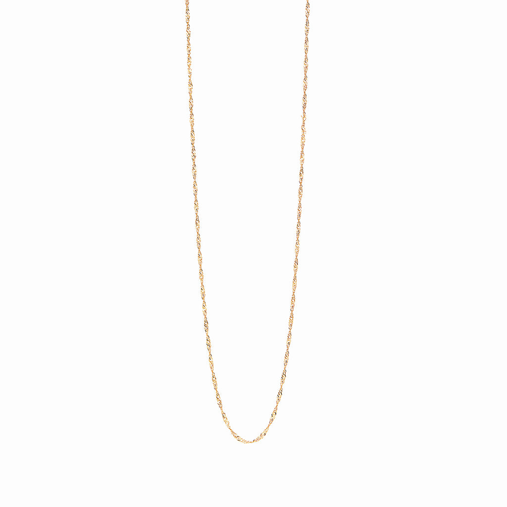18k Gold Fill Rope Chain Personalised Necklace