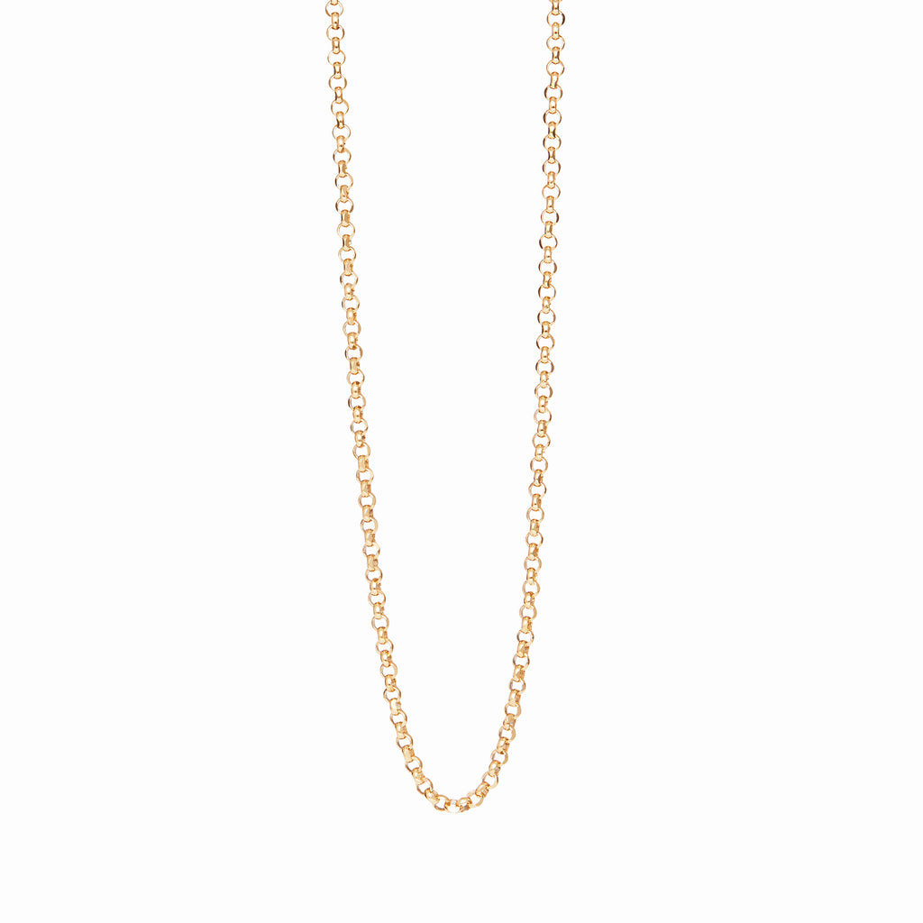 18k Gold Fill Rolo Chain Personalised Necklace