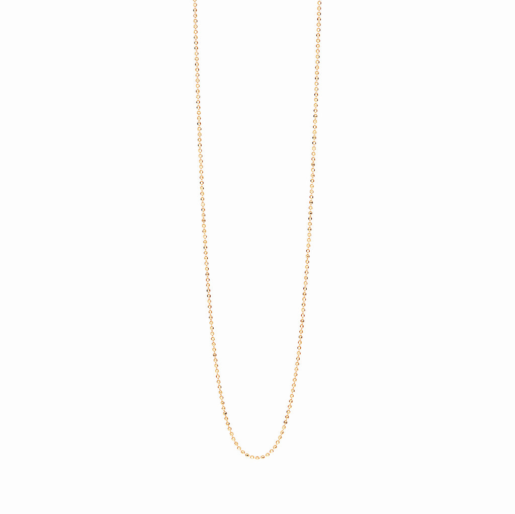 18k Gold Fill Ball Chain Personalised Necklace