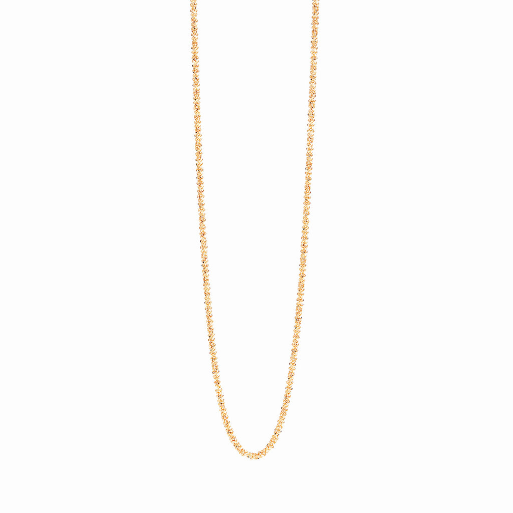 18k Gold Fill Diamond Cut Rope Chain Personalised Necklace