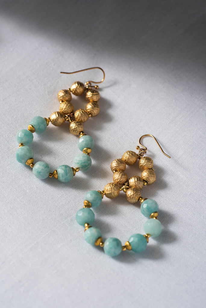 AMAZONITE HALO || EARRINGS