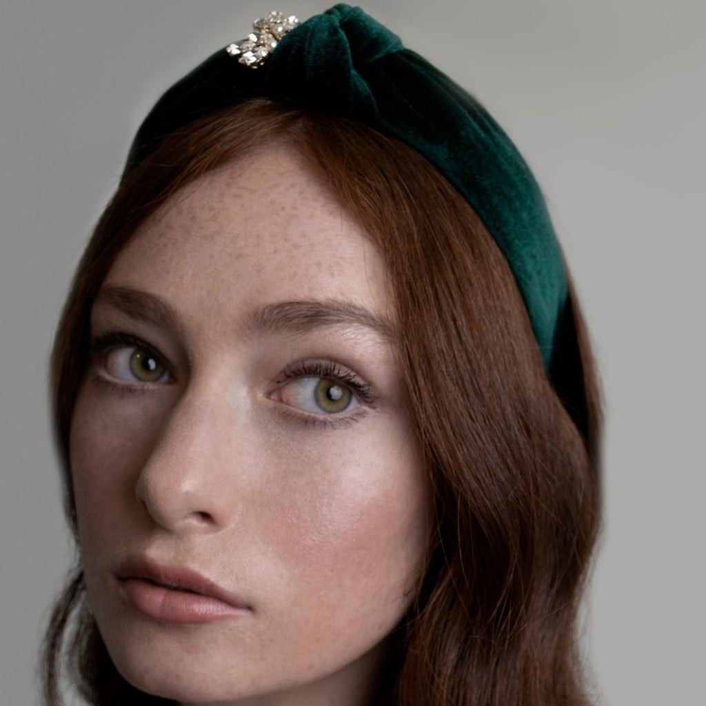 Emerald Velvet Hairband