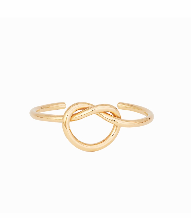 Overhand Bow Knot Bangle Gold Fill