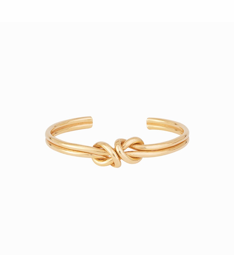 Bow Line Knot Bangle 14kt Gold Fill