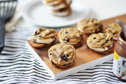Chocolate Chip Cookie Nutella S'mores