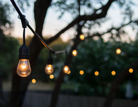 backyard lighting outdoor lights bulb lights string lights