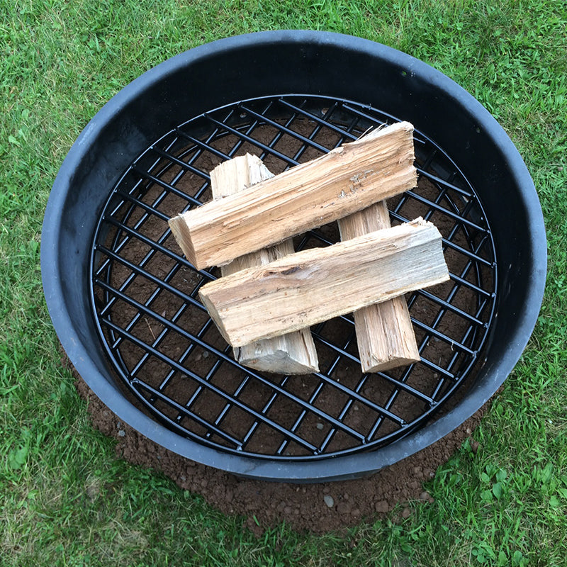 Fire Pit Grate for Keeping Air Under Fires - The Original Fire Pit Grate - Heavy Duty Metal Bonfire Grate