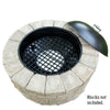 Steel fire pit insert 30 inch 36 inch fire ring insert bonfire pit system black fire pit heavy duty fire grate firepit with lid