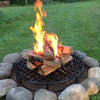 Heavy duty fire pit grate