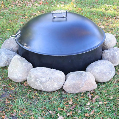 portable fire pit with lid steel firepit bonfire campfire