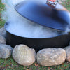 round firepit cover lid for fire pit steel fire pit lid bonfire snuff put out campfire