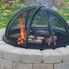 Fire pit protective screen dome