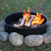 Easy Set-Up Fire Pit Ring - Durable Powder Coated Metal